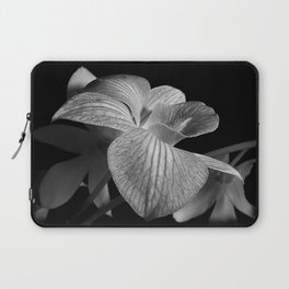 Orchid in Black and White Laptop Sleeve