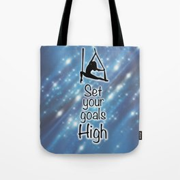 "Aeriaist ""Set your goals High"" Graphic Tote Bag"