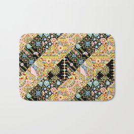Crazy Patchwork Triangles Bath Mat