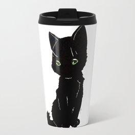 Black kitty Travel Mug