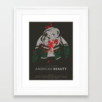 american beauty Framed Art Prints featuring american beauty by Kris L