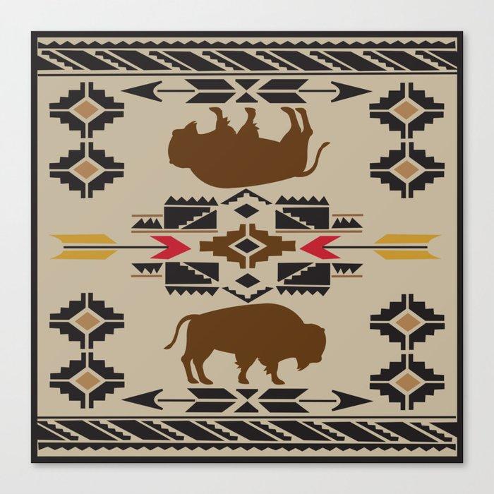 American Native Pattern No. 180 Canvas Print