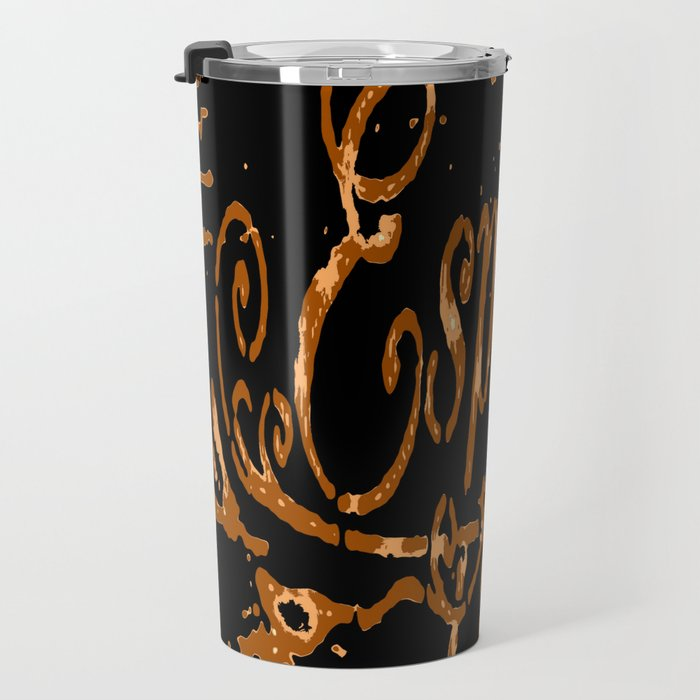 Espresso Coffee Artistic Typography Travel Mug