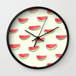 Watercolor Watermelon Wall Clock