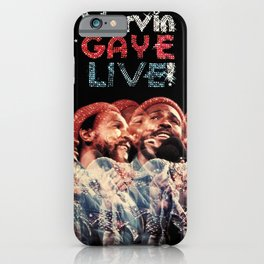 marvin lets get it on live gaye iPhone Case