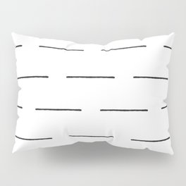 Block Print Lines in Black and White Pillow Sham