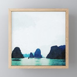 Twilight in Halong Bay Framed Mini Art Print