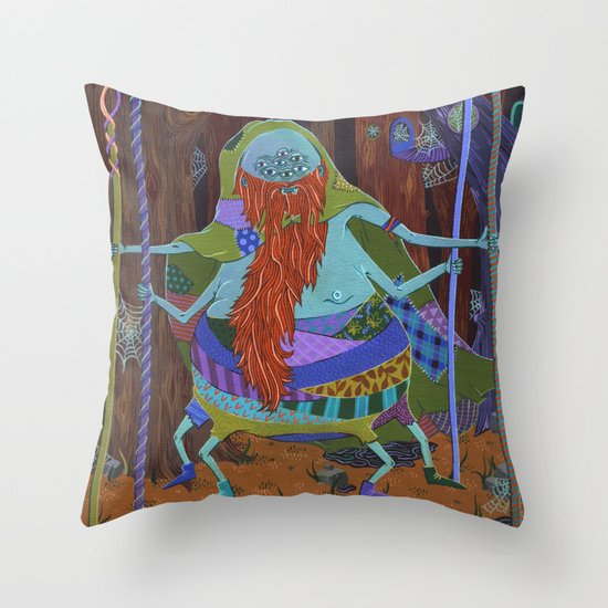 The Spider Wizard Throw Pillow