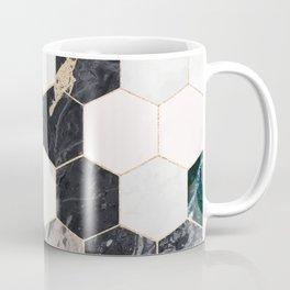 Hexagon Green Marble Honeycomb Mosaic Coffee Mug