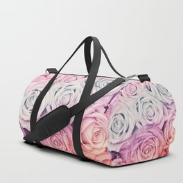 Some people grumble II  Floral rose flowers pink and multicolor Duffle Bag