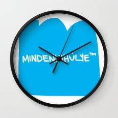 mindenkihülye™ blue Wall Clock
