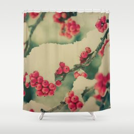Winter Berry Shower Curtain