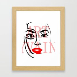 Lady Germanotta  Framed Art Print