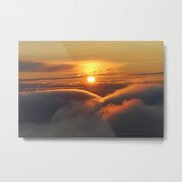 Foggy Catskills Sunset-Landscape Metal Print