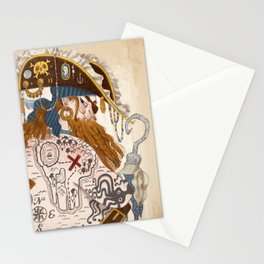 Ginger Pirate Stationery Cards