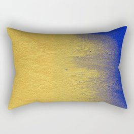Blue & Gold Abstract VIII Rectangular Pillow
