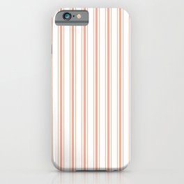 Large Shell Coral Peach Orange Mattress Ticking Stripes iPhone Case