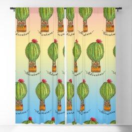 Ms Neko in cactus hot baloon Blackout Curtain