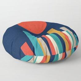 World's Edge Floor Pillow