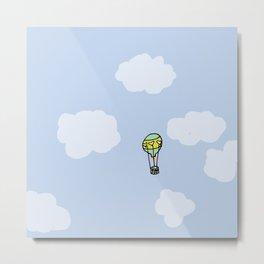 Hot Air Balloon Away Metal Print
