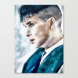 thomas shelby water colour Canvas Print