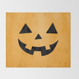 Happy Jack-O-Lantern Throw Blanket