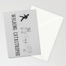 Walking Catastrophe Stationery Cards