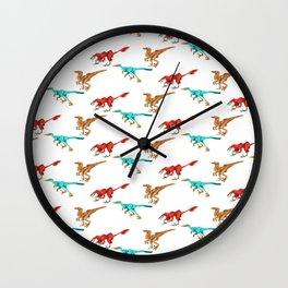Dino Pattern 1 Wall Clock