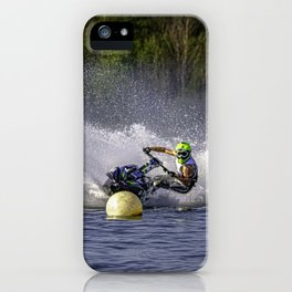 Jet ski on water iPhone Case