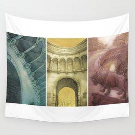 Bufallo Bridge Triptych Wall Tapestry