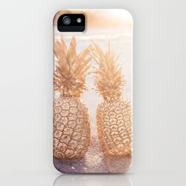 Golden Pineapples iPhone Case