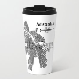 Amsterdam Map Travel Mug