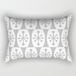 Mid Century Modern Atomic Fusion Pattern Grey Rectangular Pillow