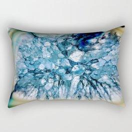Blue Crystalline Rectangular Pillow