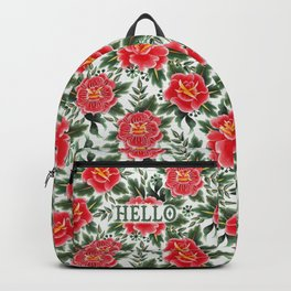 Hello - Vintage Floral Tattoo Collection Backpack