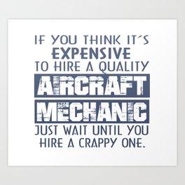 Aircraft Mechanic Art Print