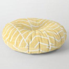 Yellow Chevron Floor Pillow