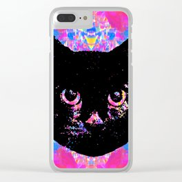 Glitch Streak Quad Cat Clear iPhone Case