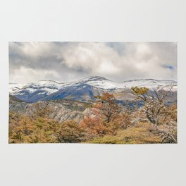 Forest and Snowy Mountains, Patagonia, Argentina Rug