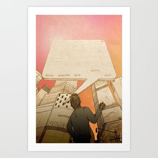 Info Window Art Print