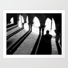 Drunken shadow Art Print