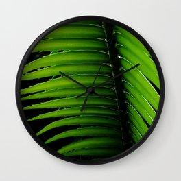 Palm tree leaf - tropical decor Wall Clock