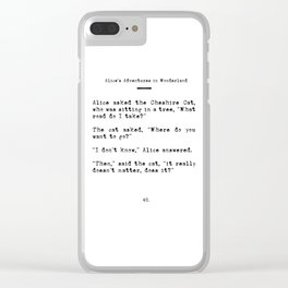 Travel Quote for Wanderers Clear iPhone Case