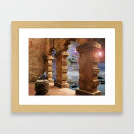 The Temple of Poseidon Framed Art Print