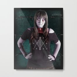 Ghoulish Glamour - The Necktie Metal Print