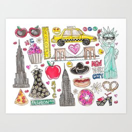 I Love NYC Art Print