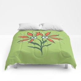 Cute Eyes Flower Monster Comforters