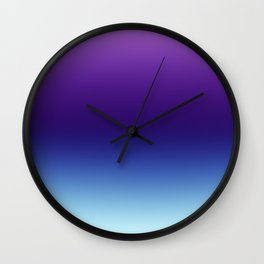 Purple and Blue Gradient Ombre Wall Clock