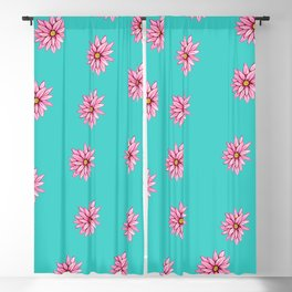 Daisies + Blue Blackout Curtain