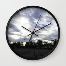 Parking lot skies Wall Clock
